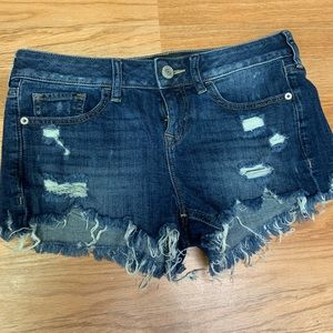 Express Distressed Denim Shorts
